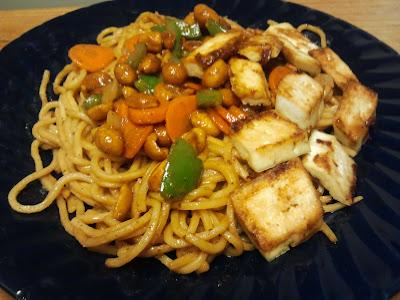 Vegetarian Noodles (Yakisoba) : ยากิโซบะเจ