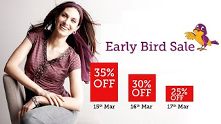 HomeShop18 Early Bird Sale: Get Flat 35% OFF on Clothing, Footwear & Accessories (Valid till 17th March'13 Only)
