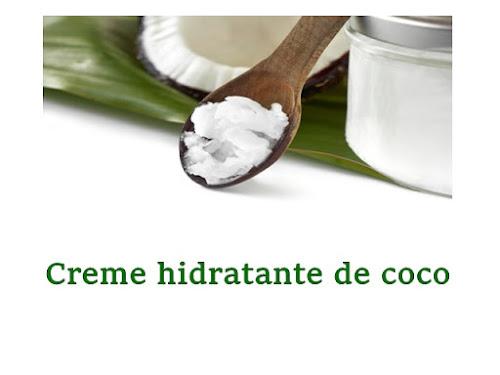 Creme hidratante de coco