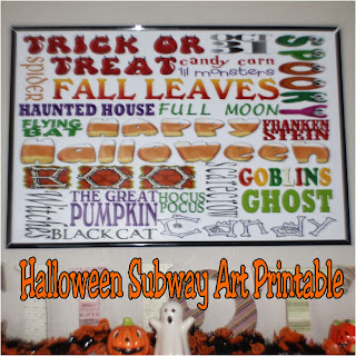 Halloween Subway Art Printable by Kims Kandy Kreations