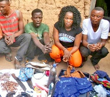 woman, kidnappers leader