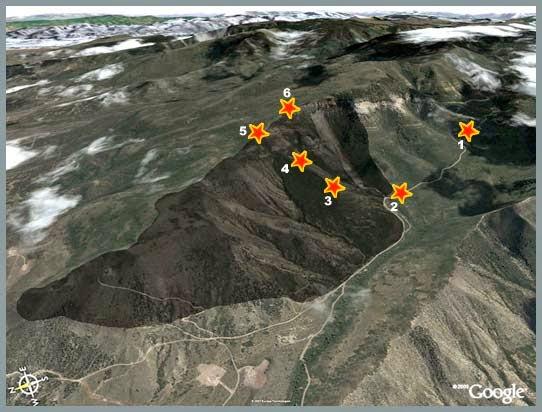 Battlement Creek staff ride map