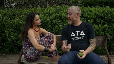 Alex Atala recebe a visita de Joana Munné no primeiro episódio - Divulgação