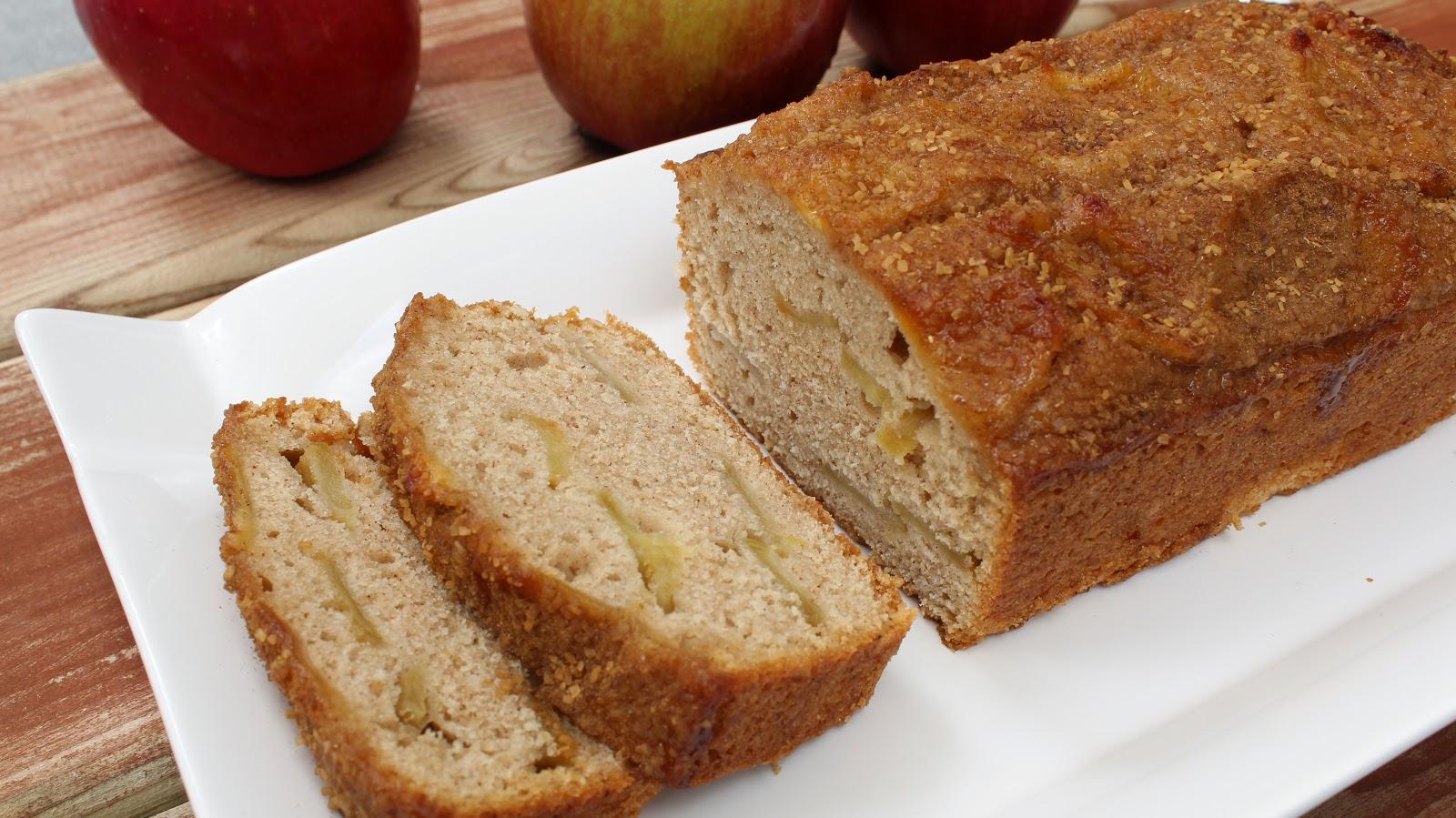 Caramelized Apple Bread with Cinnamon Sugar