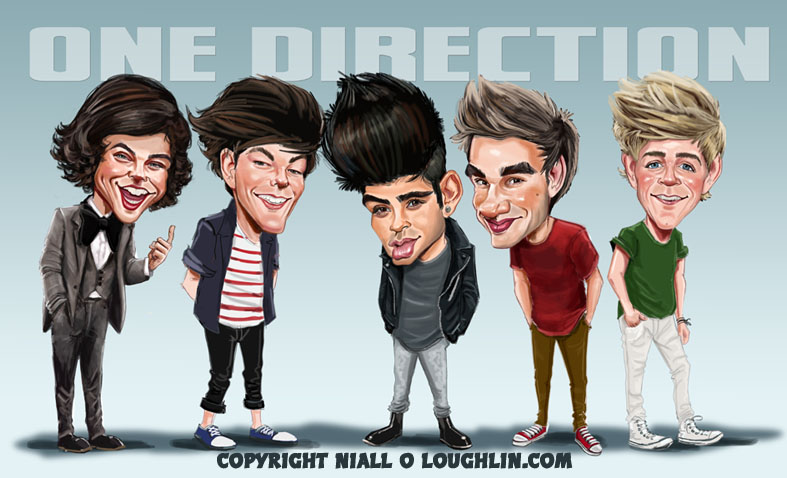 Niall Horan One Direction caricature