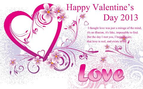 Gambar Ucapan Valentine Day 2013