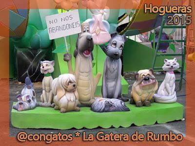 Perro Gato Ninot Hogueras Alicante 2015 Gatera