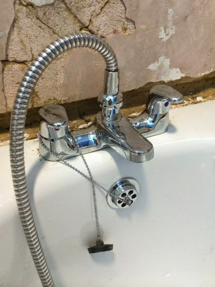 New Tap on the bathtub Bathroom refurbishment