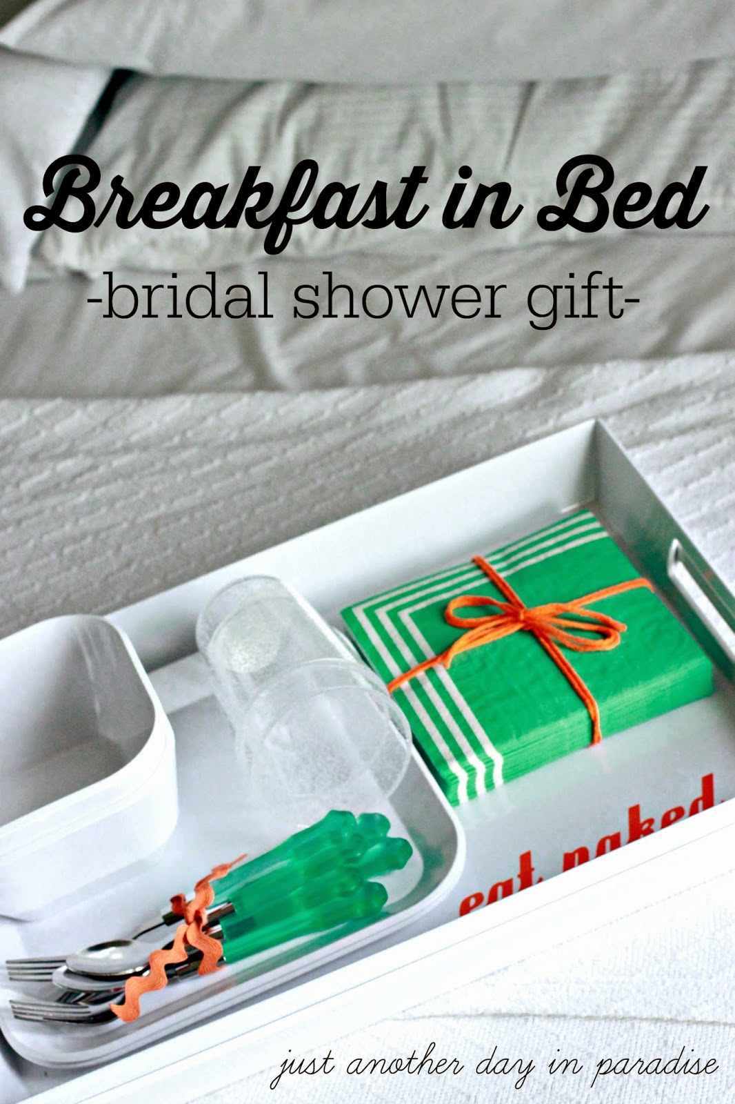 breakfast in bed bridal shower gift