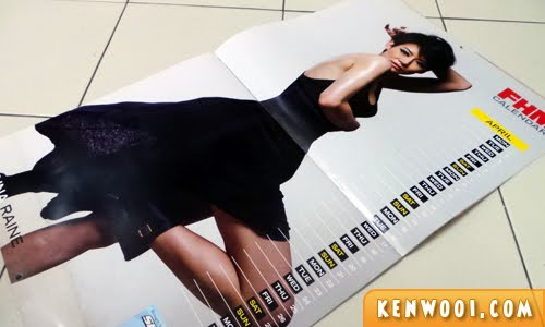 FHM calendar girl 2013 april