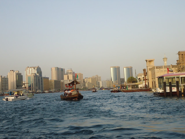 1 Dirham Abra Ride at Dubai Creek
