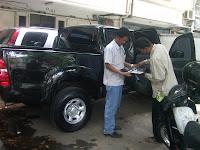 Proses Pengecekan Mobil Toyota Hilux B 9792 UBA Banjarmasin