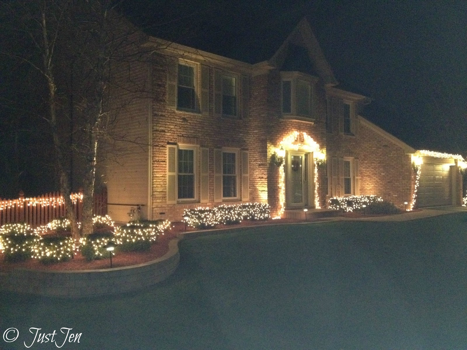 Holiday Lights Front House