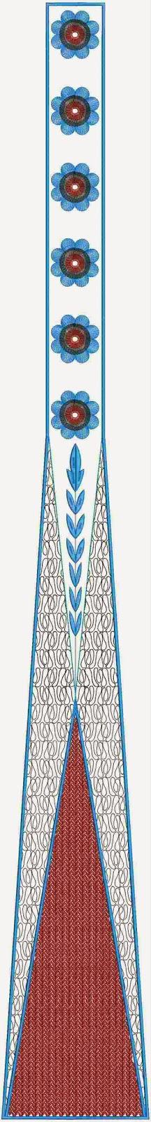 Paasfees borduurwerk ontwerpe van kali appliekwerk