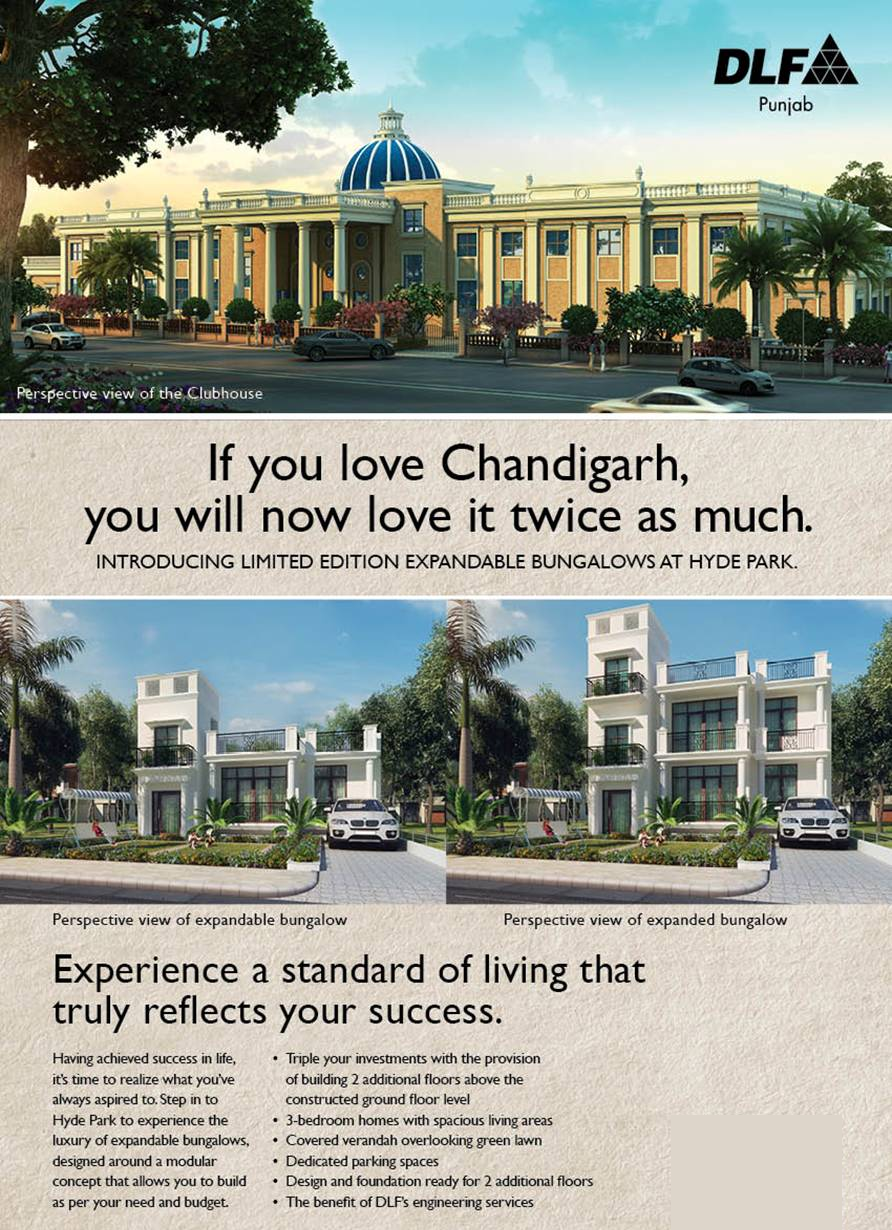 dlf hyde park expandable bungalows mullanpur new-chandigarh
