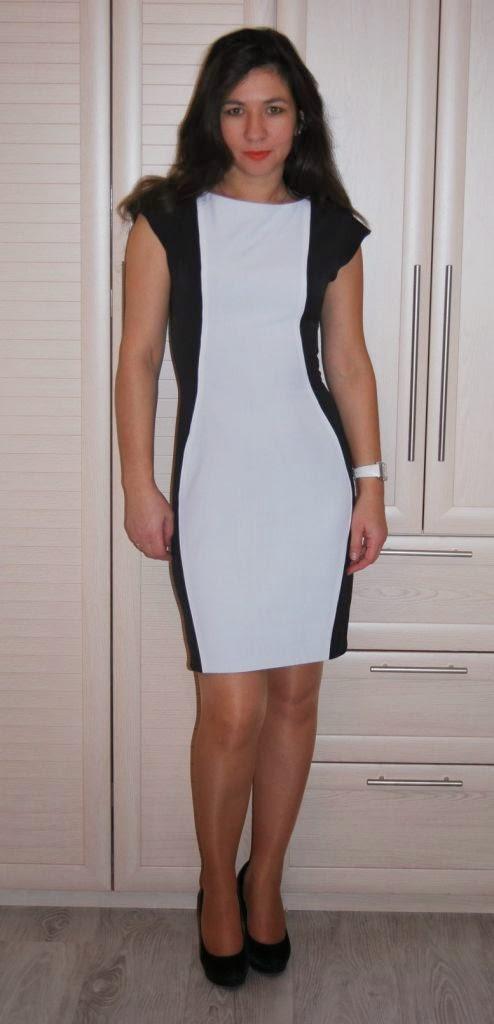 Черно-белые платье окрасились