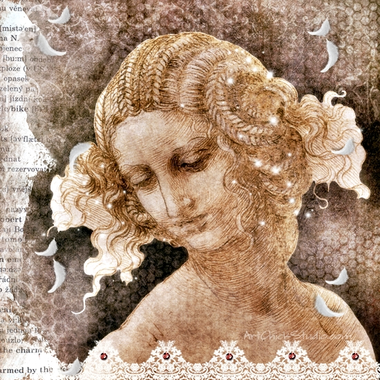 Renaissance Lady Digital Collage