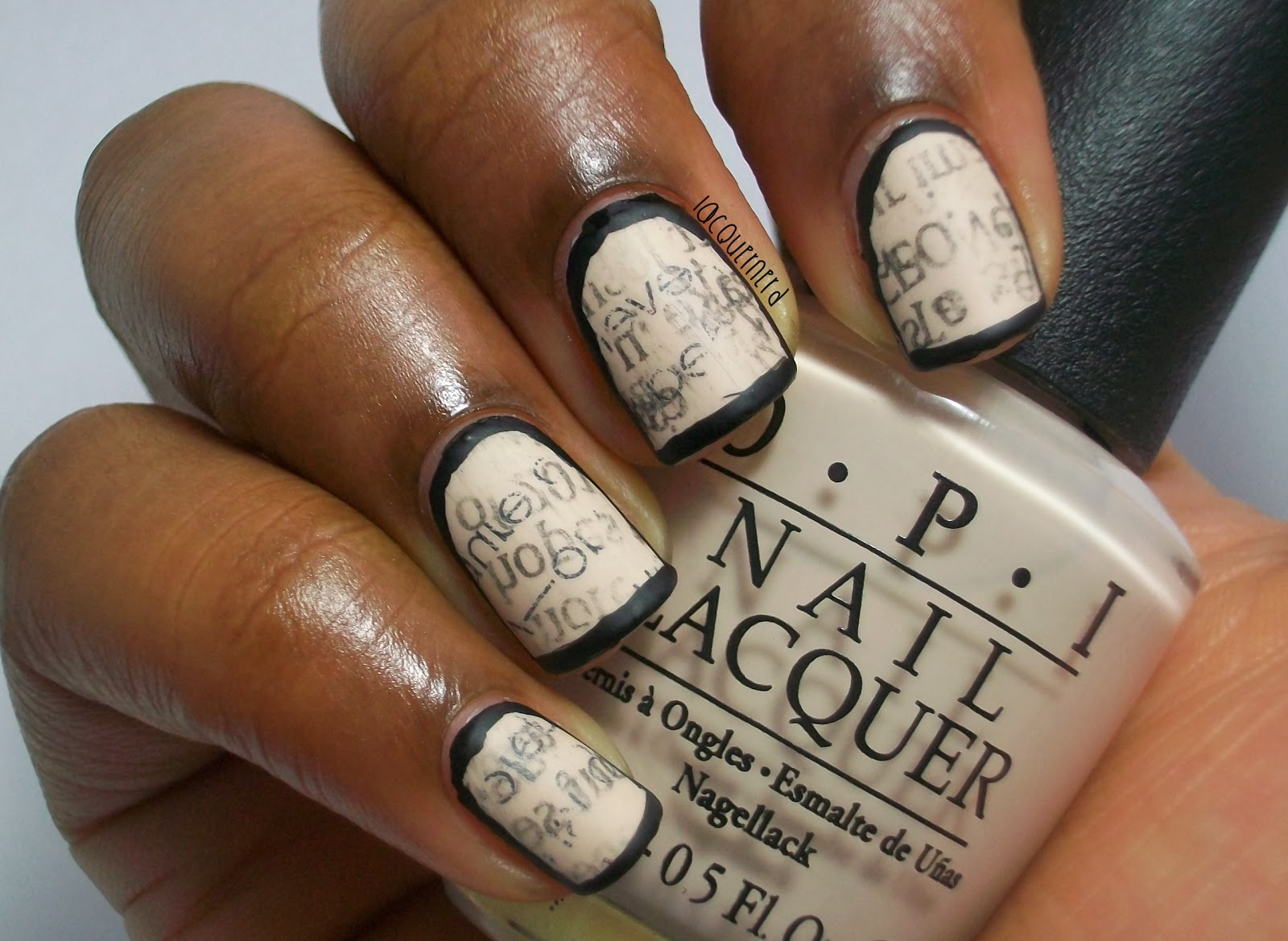 Lacquernerd: Bordered Newspaper Nails