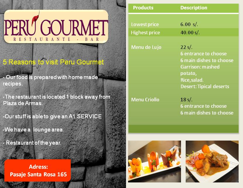 Mi Peru Restaurant Menu