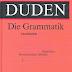 أضخم مرجع لقواعد اللغة الألمانية Duden-Grammatik