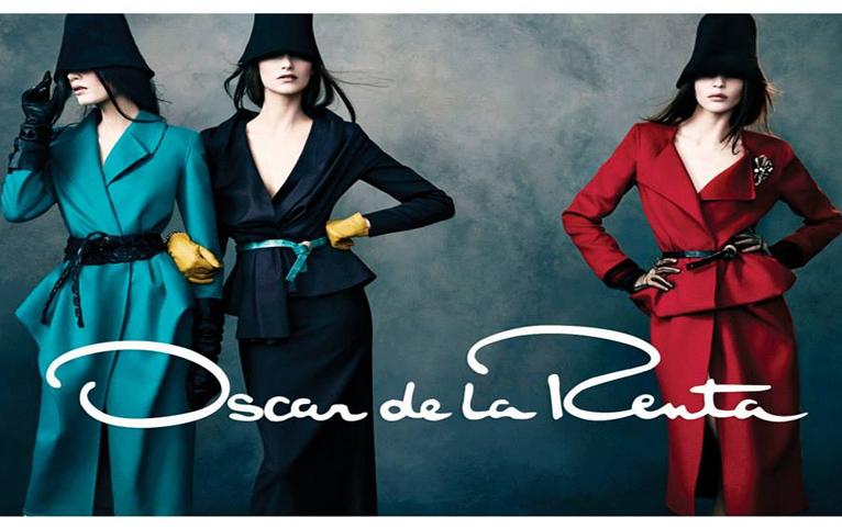 Oscar de la Renta Fall 2013/2014 Campaign Draped Coats