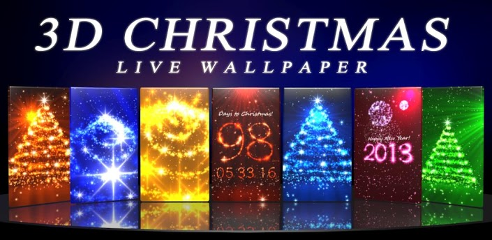 3d christmas live wallpaper for android smart phone
