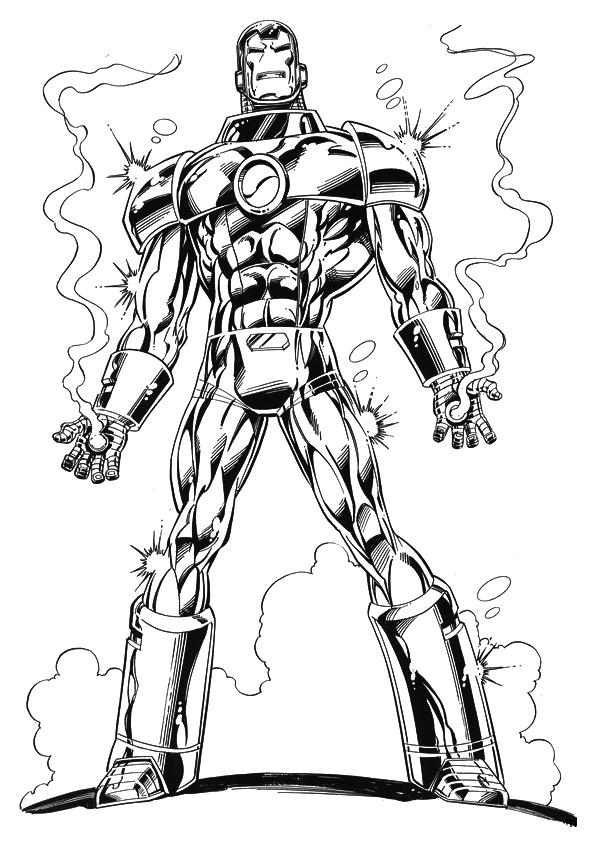 Iron Man 42 Drawing Dark Brown Hairs Ironman 42 Coloring Pages