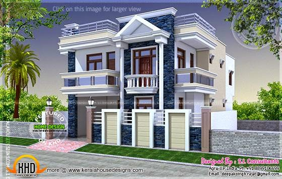 30 Feet Front Elevation : July kerala home design and floor plans