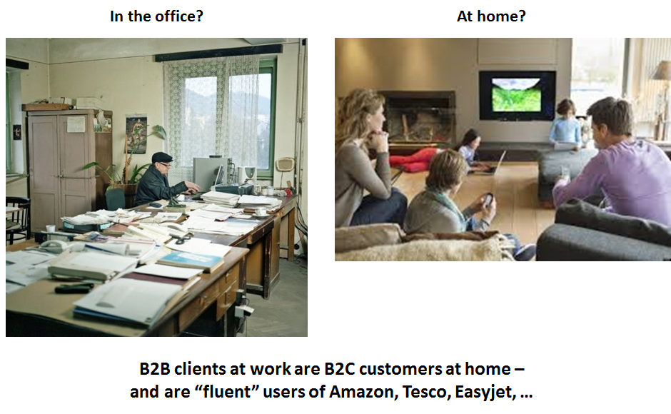B2B clients at work are B2C customers at home