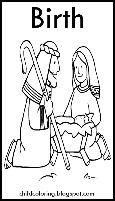 Christmas Drawings: Birth of Jesus title=