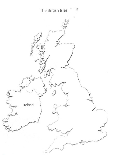 United Kingdom (UK) Maps Outline