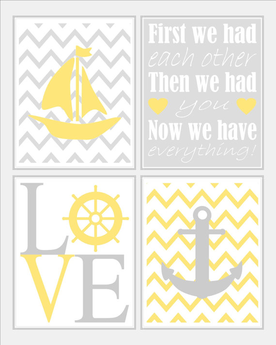nursery art prints, nautical nursery wall art,