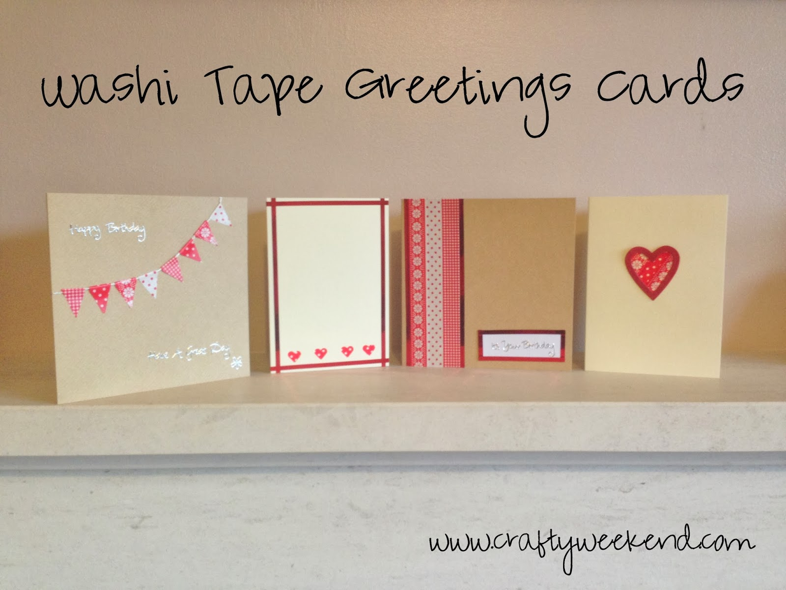 washi tape greetings cards