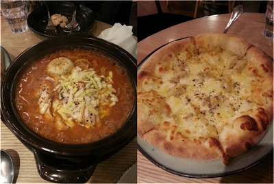 Gang Nam, Korea Cafe, Pizzas, spagetti and Coffee!