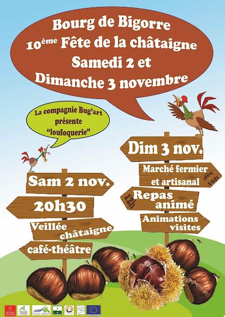 Fête de la châtaigne 2013 à Bourg de Bigorre 65