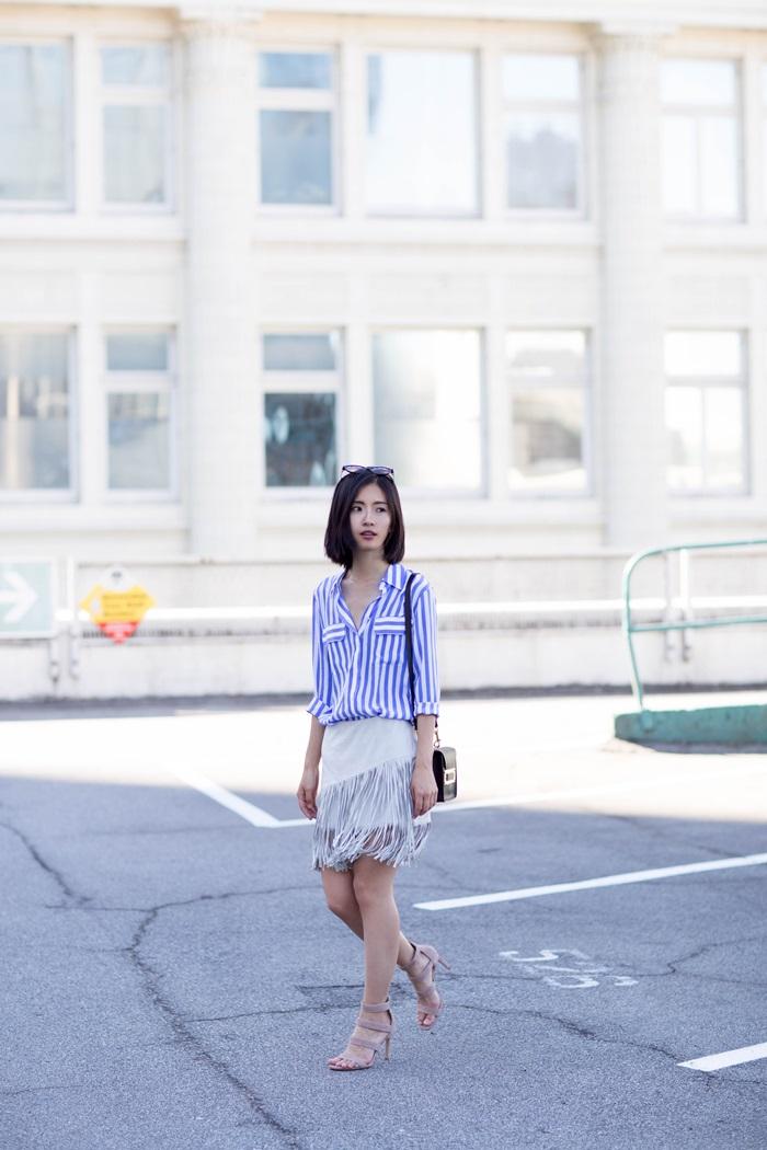 von vogue zara fringe skirt equipment shirt