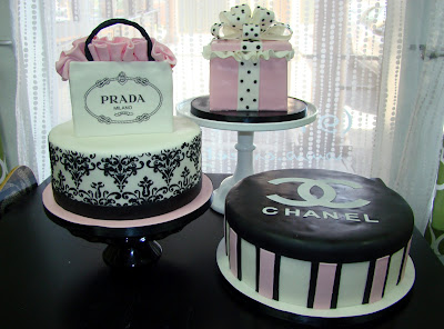 Sweet Cakes by Rebecca - Paris Fasion bridal shower cake