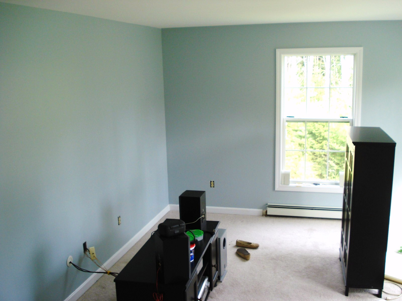 Heart Maine Home: A new, blue living room {before and after