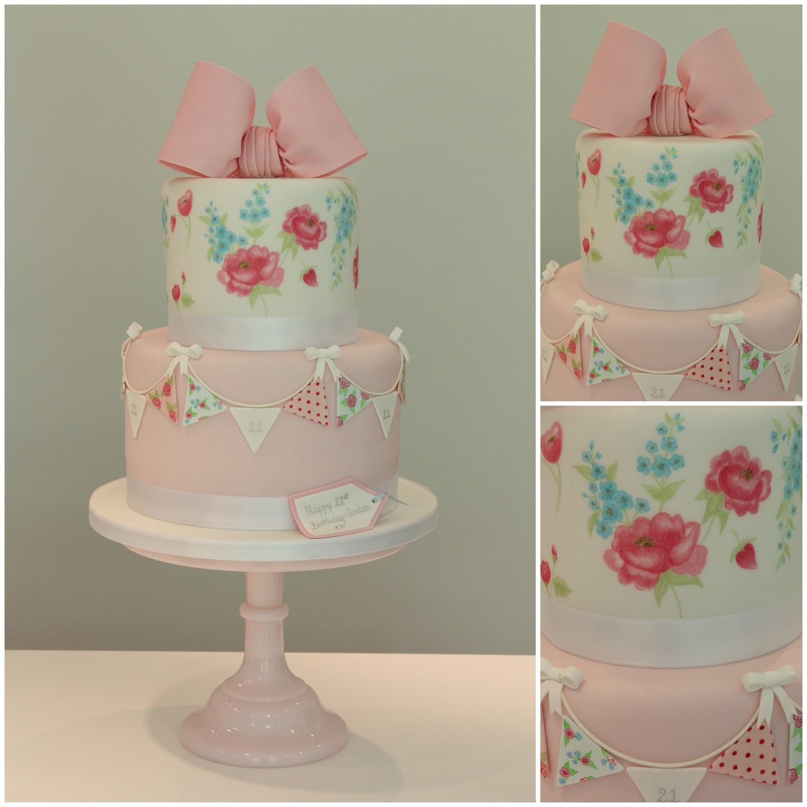 Tiers Tiaras Cath Kidston Birthday Cake 2