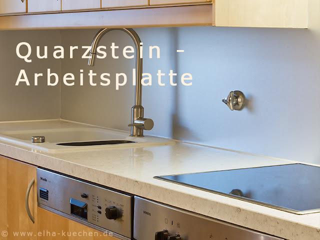 Quarzstein Arbeitsplatten sind robust, sehr hygienisch und langlebig