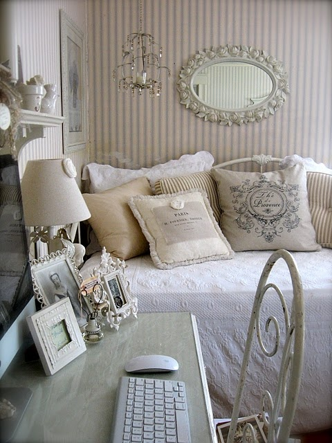 Dreaming of a shabby chic studio apartment for Chambre style shabby chic