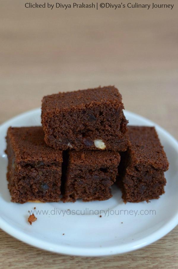 Eggless Chocolate Ragi Honey Cake, Ragi cake
