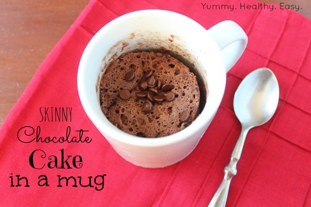 Skinny} Chocolate Cake in a Mug - Yummy Healthy Easy