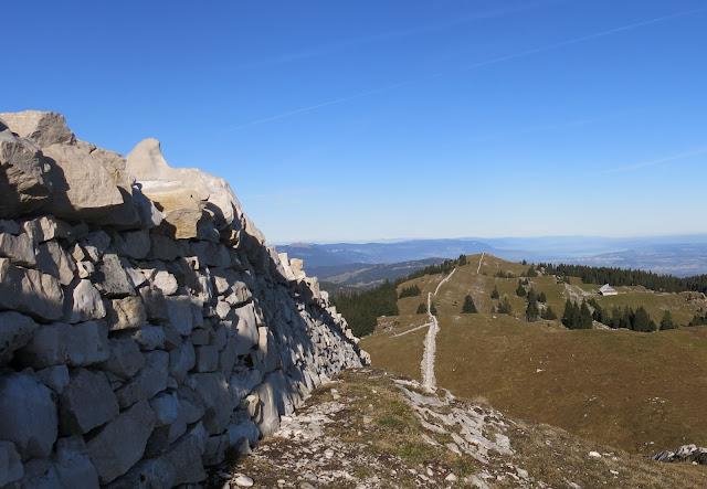 Crêtes du Jura - Murs en pierre sèche