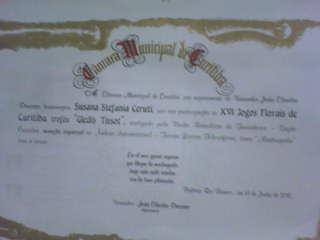 Diploma y Mensión Especial - Cdad de Curitiva - Brasil