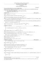 Subiecte matematica M2 bacalaureat 2012