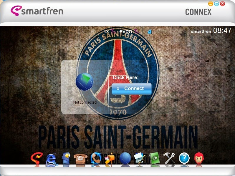 Download Skin Modem Smartfren Connex AC782 UI Edisi Paris Saint Germain F.C