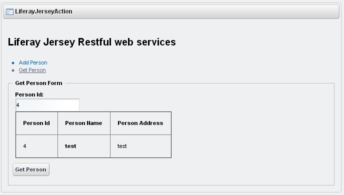 Liferay jersey restful web services liferay savvy i create table in liferay portal and i create two methods which are malvernweather Choice Image