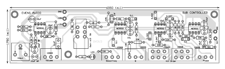 Diy Stereo  lifier Circuit Diagram moreover Subwoofer Filter Circuit as well Parametric Tone Control Ic4558 And Pcb additionally Turretboard Vox V846 Hw Hand Wired as well Adding Bass And Treble Control To Existing Schematic. on treble booster schematic