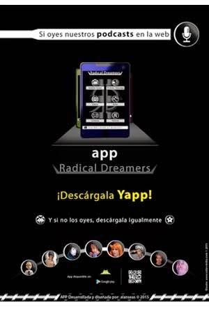 Cartel promocional app Radical Dreamers